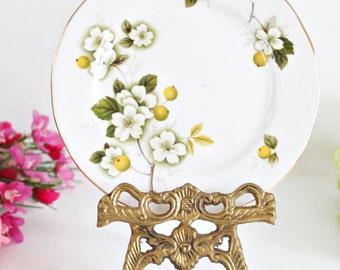 Vintage Gainsborough Plate: Tea party plate, Vintage plate, Floral plate, English plate, Pretty plate