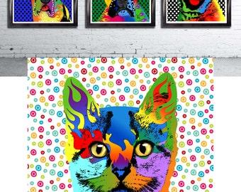 "Custom Pet Portrait Pop Art - 11 x 16"""