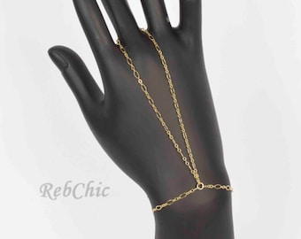 Gold ring bracelet – Gold bracelet ring – Gold chain bracelet – Gold hand chain – Gold chain ring – Gold slave ring – Gold ring slave