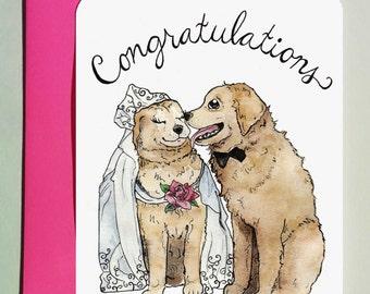 Dog Wedding Card