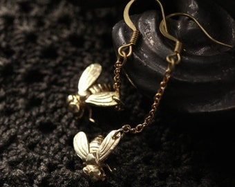 Fly with Chains Earrings - Original design and made by Defy - Unique Handmade Jewelry