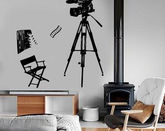 Wall Vinyl Decal Movie Cinema Camera Actor Actress Amazing Art Decor 1357dz
