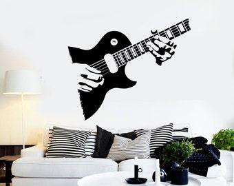 Wall Vinyl Music Guitar Player Rock Star Guaranteed Quality Decal Mural Art 1520dz