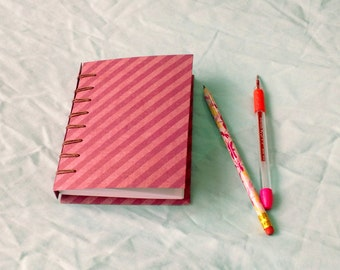 Striped Belgian Bound Note Book