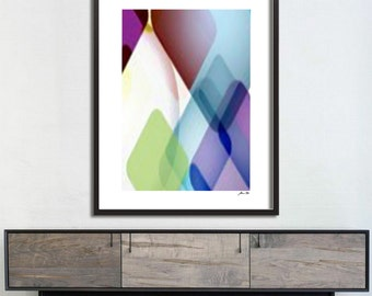 Modern Art Print Instant Download Triangles Colour Poster Vintage Pattern Print Digital Download Abstract Wall Art Download Home Decor Print