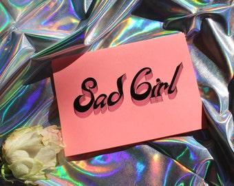Sad Girl Card