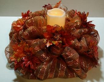 Fall Decomesh Centerpiece