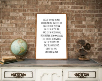 Family Rules - Home Decor - Wood Sign