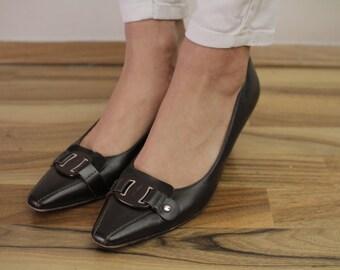 Salvatore Ferragamo Vintage Pumps Brown Woman Shoes Eu39 UK6 US8 1/2
