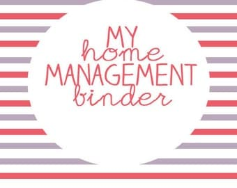 Home Organization Binder-Instant Download