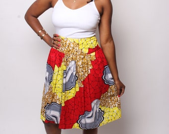 Shoe Ankara Skirt