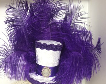 mini top hat - purple rain