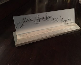 NEW! Sun-Bleached Desk Name Plate!!! Rustic meets Modern!!! Office Name Plate!!!