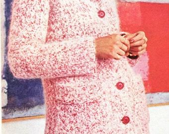 Tweeded Coat & Matching Hat Crochet Pattern PDF Instant Download