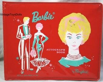 Vintage Barbie Vinyl Autograph Book 1962 Mattel Ponytail