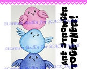 Bird Stack DIGITAL STAMP Download - Carmen Medlin for SCACD