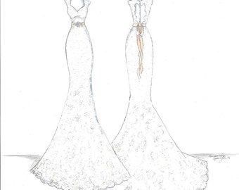 Custom Bridal Gown Ilustration
