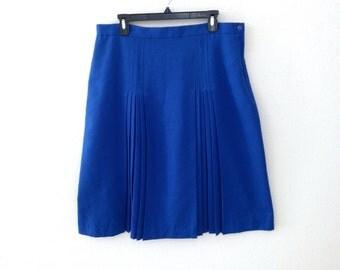 Blue pleated skirt | Etsy