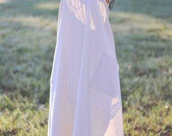 Vanilla Dream Linen Apron, Full-Length {Farm Girl Work Apron} | Ready to Ship!
