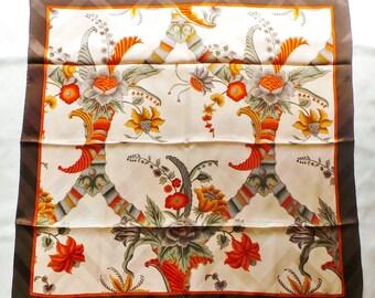 Scarf silk Balenciaga vintage 88 x 88 cm with floral pattern