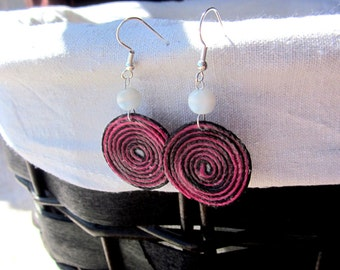 Spiral String Earring Peruvian Style Thread Earring Peruvian Thread Earring