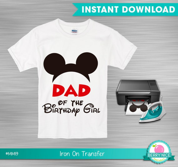 Instant download mickey mouse iron on transfer dad of the for Instant t shirt printing