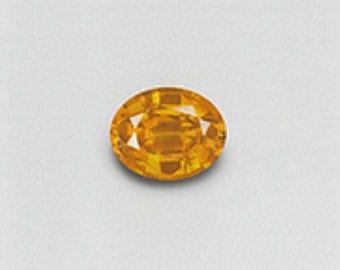 Stunning VVS 2.74 CT Ceylon (Sri Lanka) natural golden sapphire with AGL cert