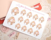 Kawaii Girl OK! Decorative Stickers ~ Valerie ~ For your Life Planner, Diary, Journal, Scrapbook...