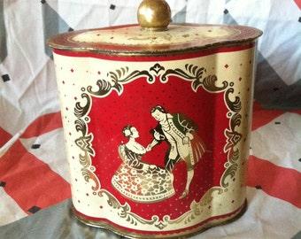 Victorian Vintage Tin Box