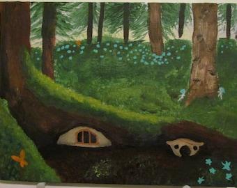 Fairy World - Multiple Tiny Canvas Painting