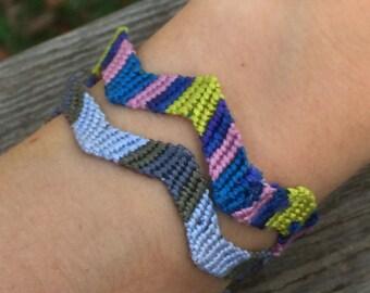 Zig-Zag Friendship Bracelets