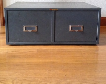 Vintage Metal Two Drawer Cabinet, Storage Cabinet, File Cabinet, Art Supplies