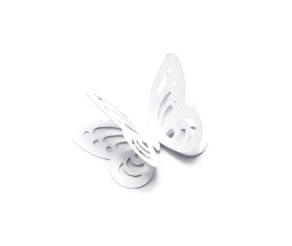 3d white butterflies butterfly table decor white paper for White paper butterflies