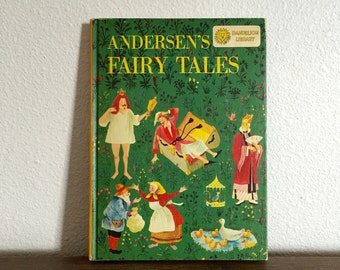 Two-In-One Children's Book; Andersen's Fairy Tales; Johnny Crow's Garden; Classic Bedtime Stories; Vintage Kids Book; Double Story Book