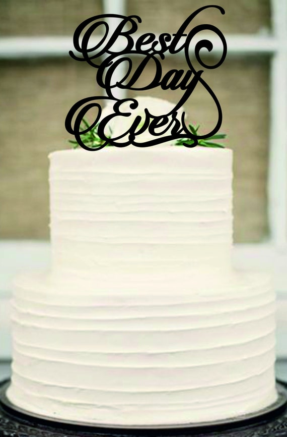 best wedding cake toppers ever best day wedding cake topper monogram wedding cake 11703