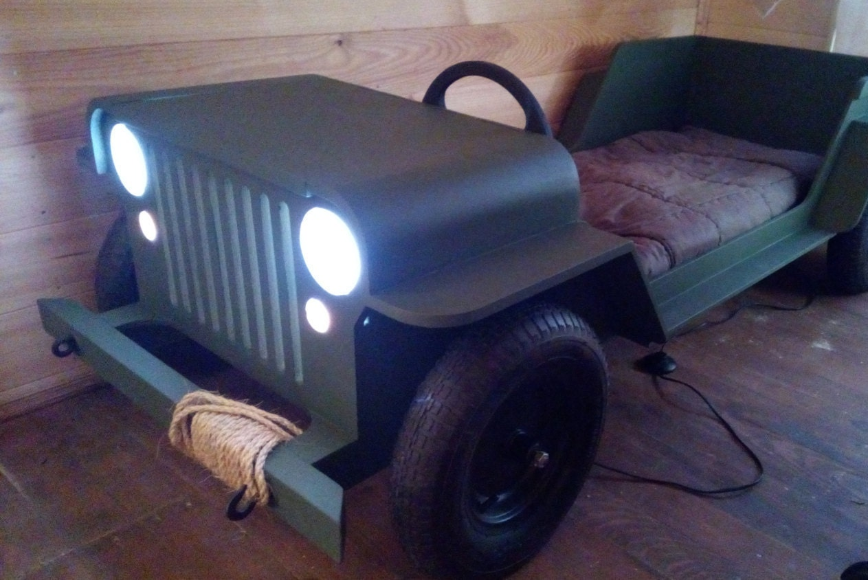 DIY Plans Toddler Car Bed Plans Willys MB In Military