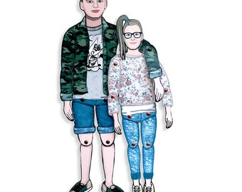 Your PERSONALIZED Paper Doll | MINI-YOU dolls by Stacy Lovejoy | Custom paper doll