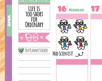 Munchkins - Mad Scientist and Lab Time Planner Stickers (M137)