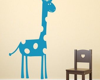 Cute Giraffe Vinyl Wall Sticker