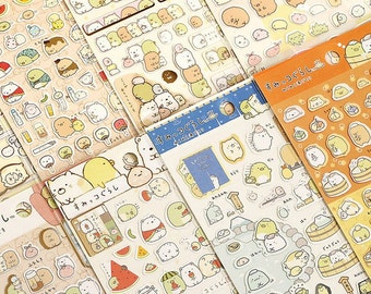 San-X Sumikko Gurashi Stickers / Cute Sticker Sheets / Kawaii Stickers / Cute Stickers / San-X Stickers / Silver & Gold Designs / Stationary