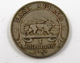 East Africa 1948 One Shilling Coin.