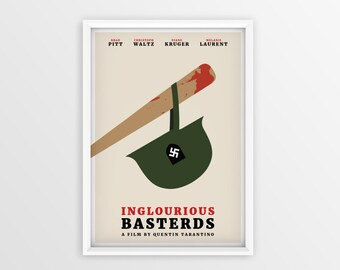 Printable Inglourious Basterds Film Poster // Quentin Tarantino // Digital File Download // A2