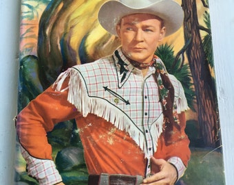 vintage Roy Rogers and the Raiders of Sawtooth Ridge, hardback with dust cover, copyright 1946, excellent condition