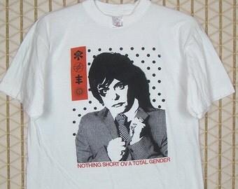 Psychic TV t-shirt, vintage and rare tee shirt, white, Throbbing Gristle, Genesis P-Orridge, Coil, Chris & Cosey, PTV3, punk