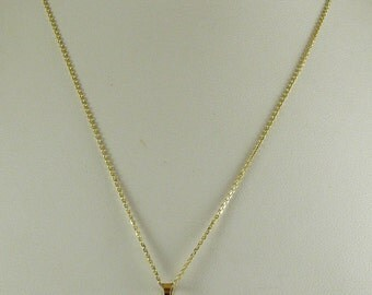 Freshwater 12.2mm x 18.0mm Pearl Pendant 14k Yellow Gold with Chain 18''