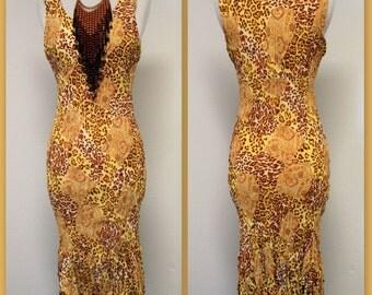 Asymmetrical Bottom Regular Size ANIMAL PRINT Sleeveless Dress Boho, Travel,Comfort.