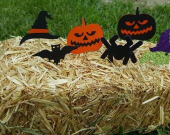 halloween/witch hat/bat/ pumpkin/spider/witch  cupcake topper