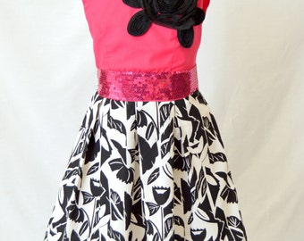 Carlibel Dress , Heart Back Dress, Heart Dress, Girls Dress