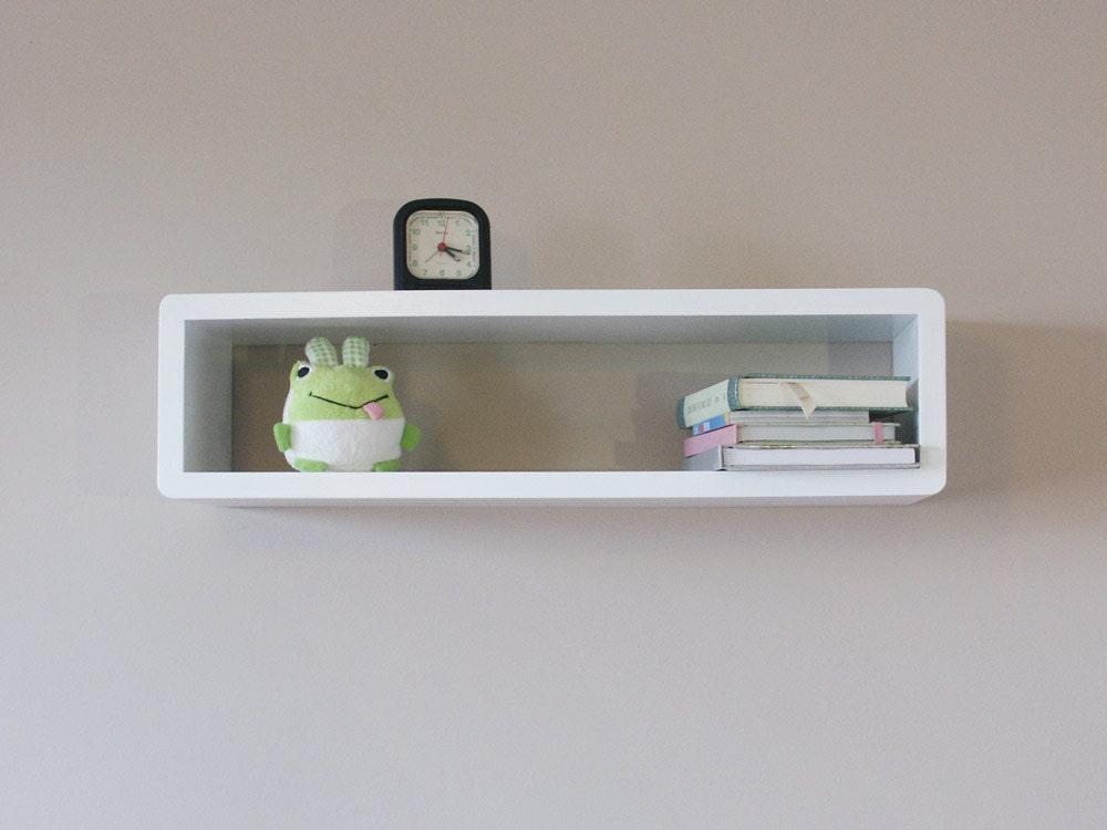 slim modern floating wall shelf cube shelf wall cabinet
