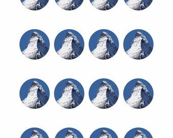 The Matterhorn Circles Canvas A2